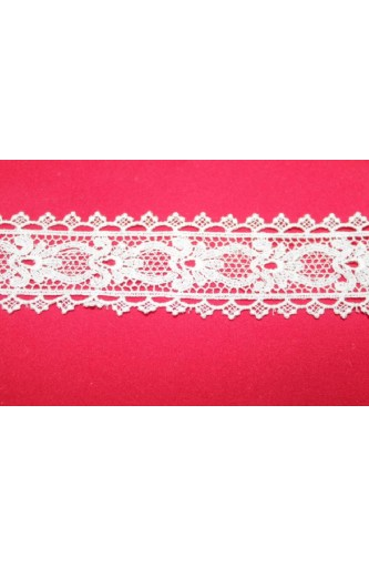 WHITE LACE COTTON HEIGHT 3.5 CM - PACK OF MT 13,50