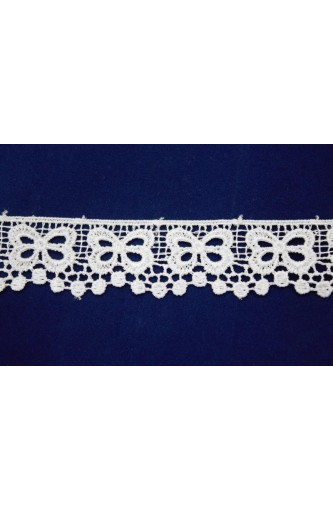 Macramé lace design bow tip height 3 cm
