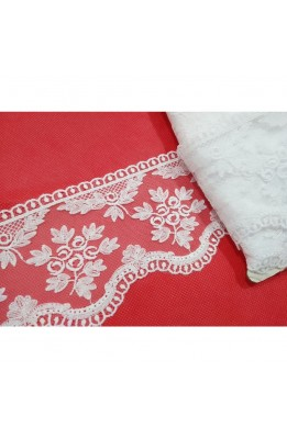 Lace Lace Toe in Tulle Embroidered Design Flowers high 10 Cm