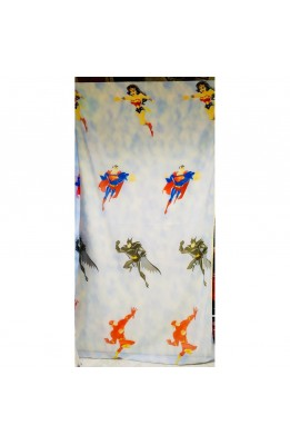 Fabric Curtain Veil Super Heroes Based on Cream and the Heavenly High 280 Cm