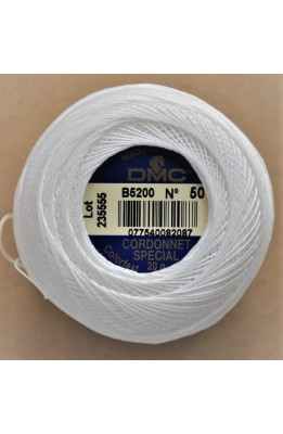 Cordonet special B5200 N° 50 DMC white 20 grams yarn for crochet