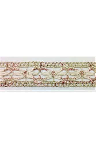 Partition lace shabby cotton and linen 4-cm high