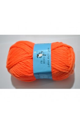 Ball of Wool, antigua orange color 80% polyester 20% acrylic 100 grams