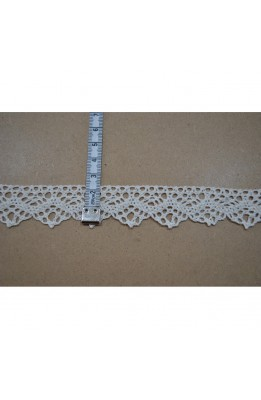 Lace, Lace, cotton, milk-white tip triangle top 2 cm