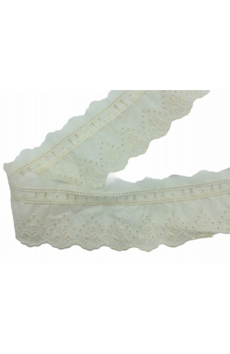Pizzosangallo Ecru with Scalloped toggle buttons High 7 Cm