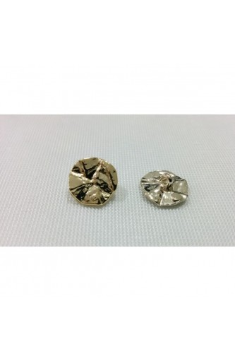 Buttons hammered metal line 18 gold and silver