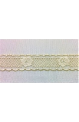 Lace lace tulle partition embroidered cream top 2 cm and the flower is cotton and viscose