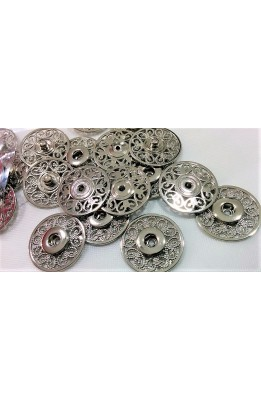 Press studs stainless steel inlaid model flower 3 inches round