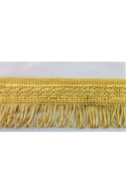 2.80 mt Passementerie fringe gatefold yellow gold, high 5 cm stok