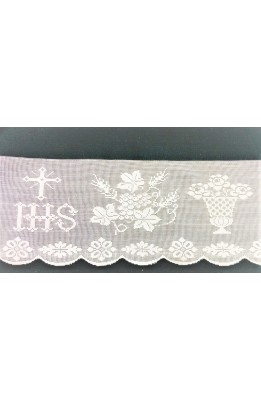 Lace Lace is sacred to mozzette coats white high cm 19 cm pure cotton