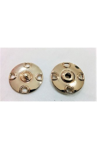 Fasteners for flange in polished metal size 40