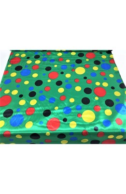 Fabric satin carnival printed polka dot colorful large and small clown high 150 cm